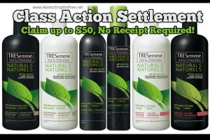 TRESemmé Naturals Class Action Settlement
