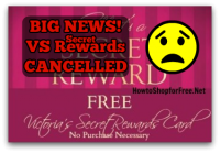 Uh-Oh, Sad News.. Victoria's Secret Secret Rewards is CANCELLED!
