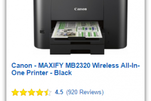 Today Only, $80 Canon MAXIFY Wireless Printer (Save $120)
