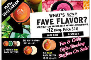The Body Shop ~ Body Butters On Sale $5+ Great for Gifts!