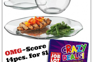 OMG ~ Libbey Glass 7¢ per piece after Crazy Deal!!