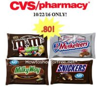Halloween Candy only .80 at CVS!  10/22/16 ONLY!