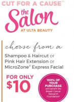 $10.00 Hair Cuts or Extentions at Ulta