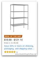 *Deal of the Day* Save 20% or more on Shelving, Packing & Storage