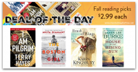 *Deal of the Day* Today only, $2.99 each: Fall reading picks!