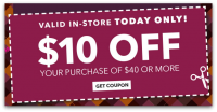 Today, In-Store Only: $10 off $40 Jo-Ann Craft Stores Coupon!
