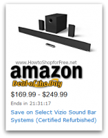 *Deal of the Day* Select Vizio Sound Bar Systems up to 50% OFF (Cert Refurb)
