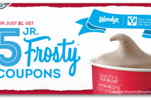 Wendy's Frosty Coupon Book (5 Coupons!) Only $1 for a Great Cause!