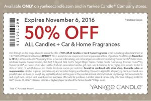 HOT 50% off ALL Candles+Car & Home Fragrances Yankee Candle Q