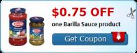 RUN & PRINT!!! .75/1 Barilla Sauce Coupon ~ Hot Doubler!