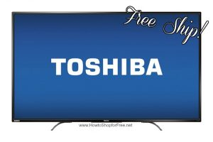 Today Only, $150 OFF Toshiba 55″ LED 4K Ultra HDTV+Chromecast Built-In