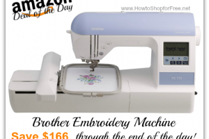 *Deal of the Day* Save $166 on Brother Embroidery Machine+Lots of Cool Features!