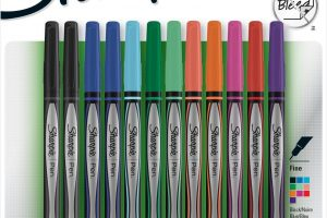 12ct. Fine Tip Sharpies, NO Bleed ~ Perfect for Adult Coloring!