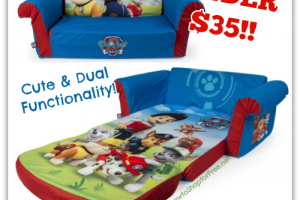 Paw Patrol 2-in-1 Flip Open Sofa/Lounger UNDER $35!