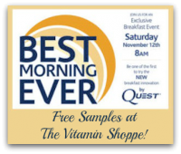 11/12: Free Samples at The Vitamin Shoppe!