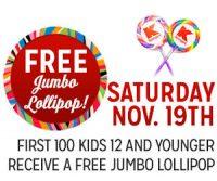 11/19: Kmart Freebie Saturday ~ Free Jumbo Lollipop!