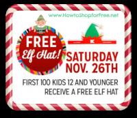 11/26: Kmart Freebie Saturday ~ Free Elf Hat!