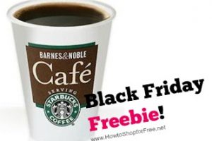 Free Coffee at Barnes & Noble Café on Black Friday!!