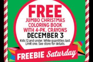 12/03: Kmart Freebie Saturday—Christmas Coloring Book+Crayons!