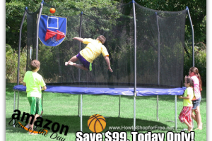*Deal of the Day* 15ft. Jump N' Dunk Trampoline, Save $99 +FREE Ship!