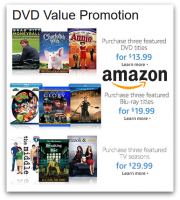 Amazon DVD Value Promo ~ 3 DVDS/$13.99, PLUS Blu-ray & Full Season Deals!