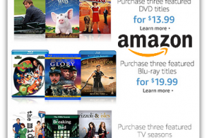 Amazon DVD Value Promo ~ 3 DVDS/$13.99, PLUS Blu-ray & Full Season Deals!