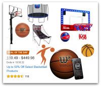 Up to 50% Off Select Basketball Products *Deal of the Day*