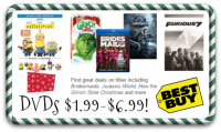 DVDs from Best Buy, as low as $1.99!! Hot Titles Included!