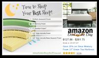 12″ Zinus Memory Foam Green Tea Mattress, Save $90—Deal of the Day!