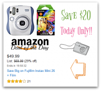 $20 OFF Fujifilm Instax Mini 26 & Film ~ $49.99 Shipped *Deal of the Day*