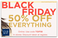 50% off Everything @ GAP for Black Friday ~ In-Store & Online!