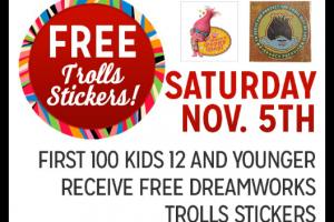 11/05: Kmart Freebie Saturday ~ FREE Trolls Stickers!