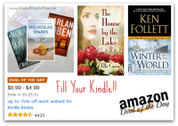 *Deal of the Day* Up to 75% off Most Wished for Kindle Books!