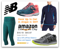 Up to 45% off New Balance Shoes + Apparel *Deal of the Day*