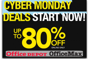 Office Depot/OfficeMax #CyberMonday Starts NOW ~ Up to 80% OFF