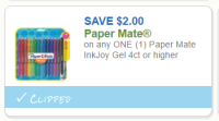 High Value Papermate Coupon – 4ct or larger! PRINT!!
