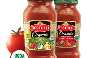 $1/1 Bertolli® Organic Pasta Sauce