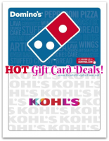 $60 Kohl's GC—$50 & $30 Domino's GC—$25!! *HOT DEALS*