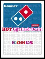 $60 Kohl's GC—$50 & $30 Domino's GC—$25!! *HOT DEALS*