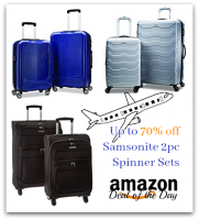 Up to 70% off Samsonite 2pc. Spinner Sets *Deal of the Day*