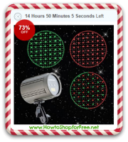 Online Only, Laser Projection Light 73% OFF! Fun for Holidays!