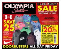 Olympia Sports Black Friday Ad Scan