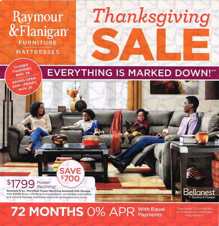Raymour Flanigan Black Friday Ad Scan