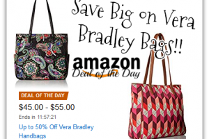 Up to 50% Off Vera Bradley Handbags *Deal of the Day*