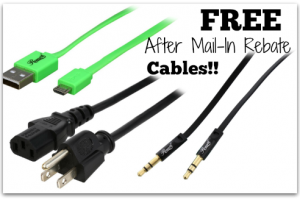 FREE Cord/Cables from NewEgg after Easy Mail-In Rebates!