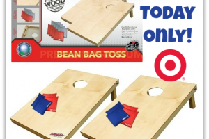 50% OFF Wooden Cornhole Bag Toss Set ~ Today Only @ Target!