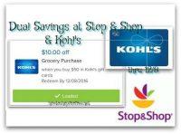 Dual Savings at Stop & Shop & Kohl's Through 12/8
