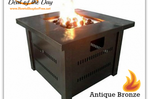55% OFF Propane Fire Pit—Deal of the Day