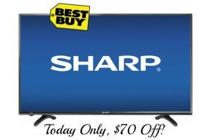 $70 OFF Sharp 40″ Class LED HDTV, Today Only!