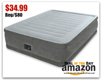 $35 Intex Elevated Dura-Beam Airbed (Queen) Deal of the Day